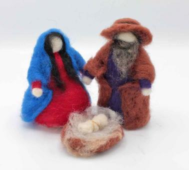 Maria und Josef mit Jesuskind